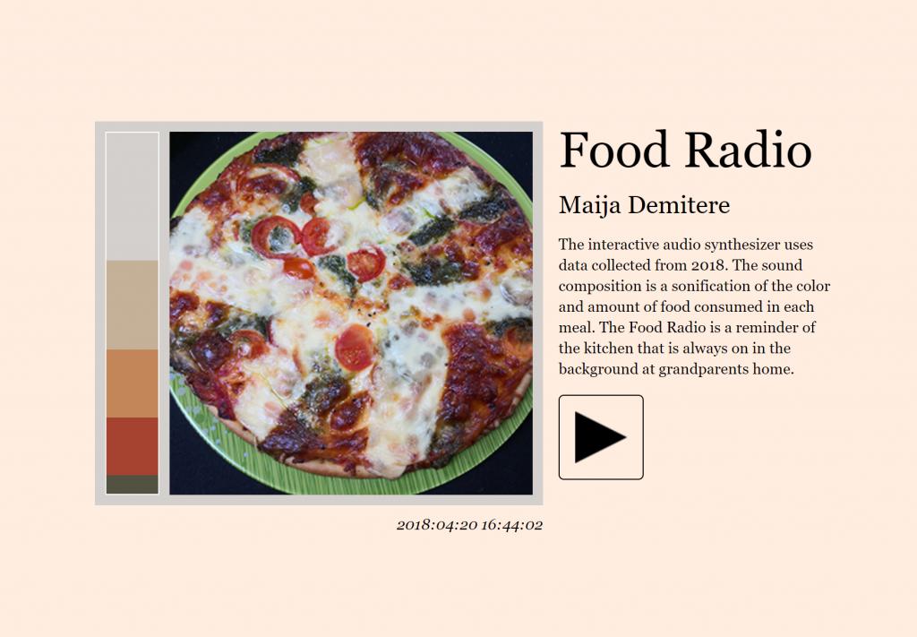 Maija Demitere Food Radio